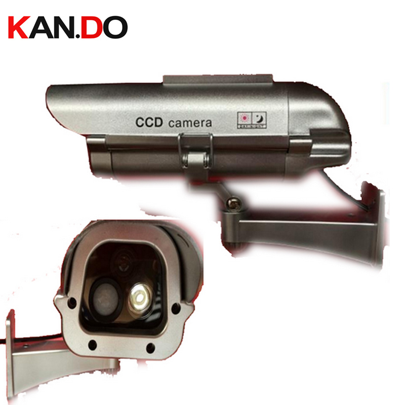 4100 big sizer solar power imitation CCTV Camera fake camera w/ array IR LED flashing solar dummy camera Simulation Camera <br>