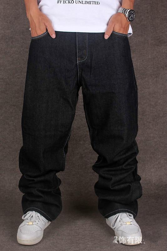 2016 New Design Plus Size Mens Baggy Hip Hop Street Jeans Loose Fit For Street Dancing And Skatebord Appliques Size 30 To 46Îäåæäà è àêñåññóàðû<br><br>