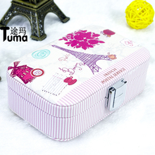 New Style High Quality Portable Jewelry Box Leather Jewelry Box Princess Dressing Birthday Gift /Maquiagem/Casket 7 Pattern(China)