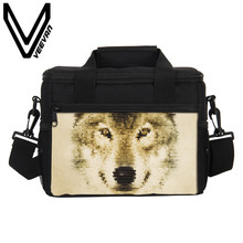 VEEVANV Brand 2017 Tiger Lunch Boxes 3D PU Prints Lunch Box Fashion Lunch Bags Thermal for Women Bento Lunch Picnic Box for Kids