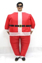 2017 New Inflatable Costume Christmas Santa Claus Adult  Inflatable Costume Christmas Fancy Dress Party Clothing Free Shipping