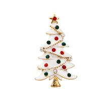 Xmas Christmas Brooches Christmas Tree Snowman Alloy And Rhinestone Brooch Jewelry Wholesale Christmas Ornaments Kerst 2017@YL