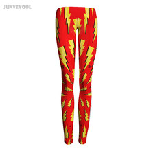 Women Push Up Pants Women Beauty Skinny Leggings Sexy Lycra Lightning Diamond Print Trousers Capris Plus Size New Hot Red Tattoo