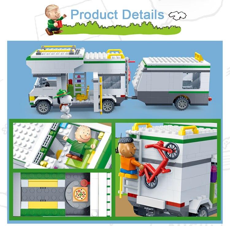 BanBao 7513 Touring Car Plastic Building Bricks 27