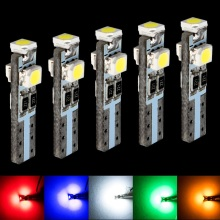 5pcs T5 18 37 70 73 74 79 85 Super bright 3 LED car Dashboard warming indicator Wedge Light Bulb Auto Lamp Instrument lights 12V