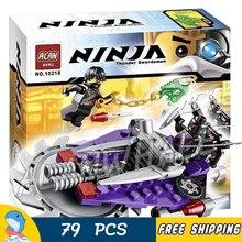 79pcs Bela 10218 Set Hover Hunter Cole Nindroid Ninja Building Bricks Blocks Kids Toys Compatible lego
