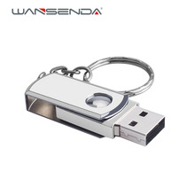 Brand new USB 2.0 Metal Key Chain USB Flash Drive 16GB 32GB 64GB 128GB Pendrives 4GB 8GB real capacity Pen Drive usb stick