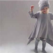 New autumn girls dresses cotton kids children warm clothes long sleeve baby clothing girls irregular dress ceremonies vestido
