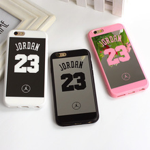 Jordan 23 Lovers Couple Soft Silicone Chrome Mirror Case for iphone 5 SE 6 6plus 6s 7 plus Phone shell Cover Coque Fundas Capa