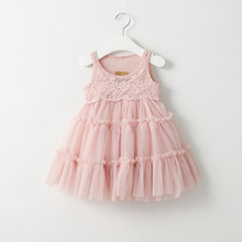 Girls Tutu Lace Dress Childrens Dress 2016 Christmas Summer Casual Fashion Sleeveless Vest Parry Dress
