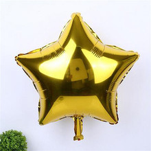 10pcs 25cm Multicolor Star balloon Foil Helium Balloon wedding Valentine's Day birthday decoration Party Supplies Celebration 6Z(China)