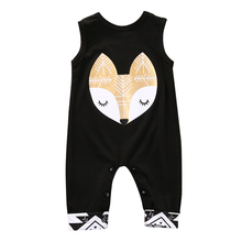 Newborn Winter Rompers 2016 Cute Toddler Baby Girl Boy Fox Jumpers Rompers Playsuit Outfits Clothes 0-24M(China)