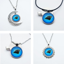 10PCS Time Gem Glass Pendant Jewelry Fans Sports Team Carolina Panthers Pendant Necklace Football With Chain
