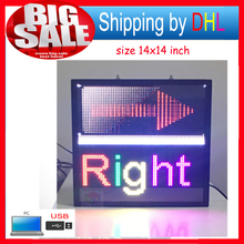 Full-Color LED Advertising Display/p5 indoor 14x14inch programmable led sign