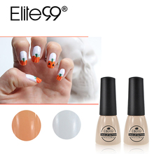 Elite99 2pcs/lot Orange Color White Color Fashion Colorful UV Gel Nail Polish 7ml Soak-off UV Gel Polish Lacquer For Halloween