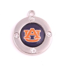 10pcs/lot  crystal Auburn Tigers team logo Finals Best sport Football pendant