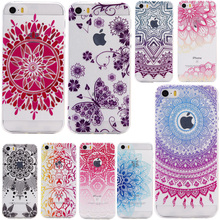 Nephy Phone Case For iPhone 5 6 S 5s 6s 7 Plus SE 6plus 7plus Cover Ultra thin TPU Silicone Soft Shell Beautiful Flower Housing