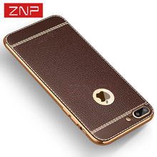 Buy ZNP Luxury Litchi Phone Cases iphone 7 Case 7 Plus Soft TPU Silicone Full Cover iPhone 6 Case 6 6s Plus Cases Capa Coque for $1.29 in AliExpress store