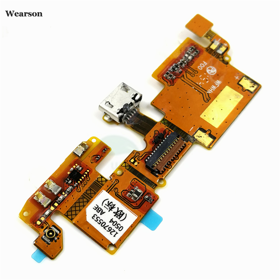 For ZTE Blade V6  Blade X7  Blade D6 USB Port Charge Board Flex Cable With Microphone Tested High Quality (3)