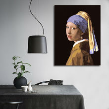 diy oil painting  Girl With a Pearl Earring  oil painting practice  digital paint by numbers   modular painting