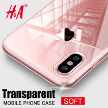 H&A Luxury TPU Silicon case for iphone 6 6s 7 8 Plus Transparent soft Silicone cover case for iphone X 6 5 5s se Phone Bag Case(China)