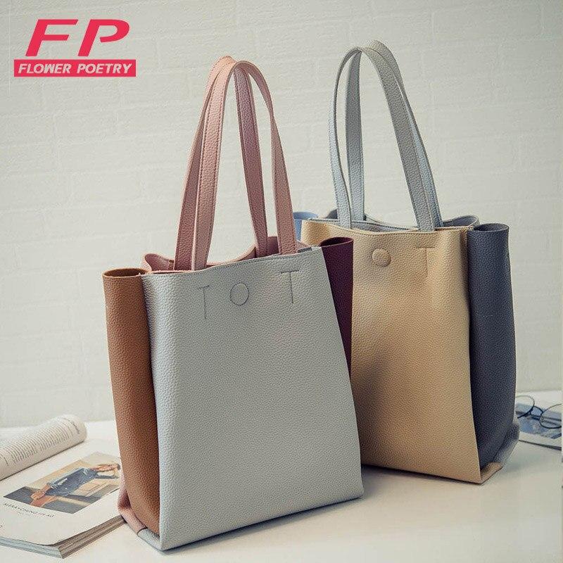 women bag 2017 fashion women leather handbag brief shoulder bags gray large capacity luxury handbags women bags designer<br><br>Aliexpress