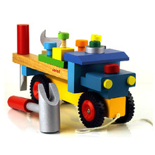 Free shipping 2017 new hot sale model car educational wooden toys HT2724(China)