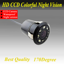 Factory Promotion CCD HD night vision 170 degree car rear view camera camera reversing backup camera Free Shipping(China)