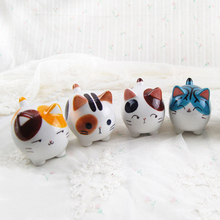 China Jingdezhen Specialty Supper Cute Kawaii Ceramic 3D Lifelike Cat Kitty Home Decor Decoration Crafts Figurines Miniatures