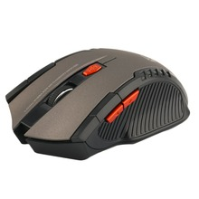 Hot New W529 Good Quality Wireless Game Mouse Super Light Game Mouse Mice Gray Drop Shipping(China)
