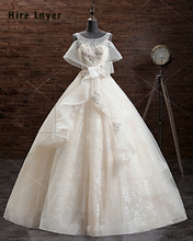 NAJOWPJG 2017 New China Bridal Gowns Open Back Appliques Beading Bow Lace A-line Wedding Dresses Alibaba China Vestidos De Noiva(China)