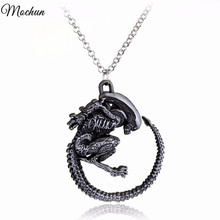 MQCHUN 2017 Hot Warrior Alien Metal Goth Has Giger Cool Pendant Alloy Necklace Gift For Fans Movie Jewelry Christmas Gift(China)