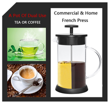8 Cups 32 Oz Double Layers Stainless Steel Plunger 1L French Press Espresso Percolator Stove Top Coffee Maker Pot