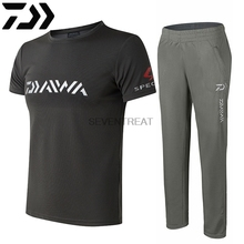 Brand DAIWA DAWA Clothing Sets Men Breathable UPF 50+ Anti UV Outdoor Sportswear Suit Summersho Short Fishing Shirt Pants