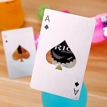 Creative Poker Card Beer Bottle Opener Personalized Funny Stainless Steel Credit Card Bottle Opener Card of Spades Bar Tool(China)