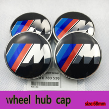 4pcs 68mm ///M M Logo Hub Cap Cover Emblem sticker Chrome Wheel Center caps auto covers for BMW m3 m5 X1 X3 X5 X6 Center Cap