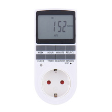 Plug-in Programmable Timer Switch Socket with Clock Summer Time Random Function EU AU UK US Plug LCD Display Electronic Devices