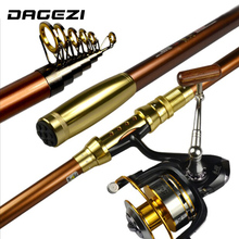 DAGEZI Telescopic Carbon Fishing Rod 2.1/2.4/2.7/3.0/3.6M Carbon Fiber Carbon Spinning Sea Rods without reel
