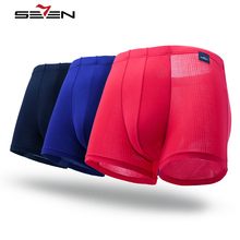 Seven7 Famous Brand Sexy Mens Underwear Boxer Shorts Cotton Bamboo Luxury Men Underpants Pull In Male Panties 3Pcs/lot 109G40130(China)