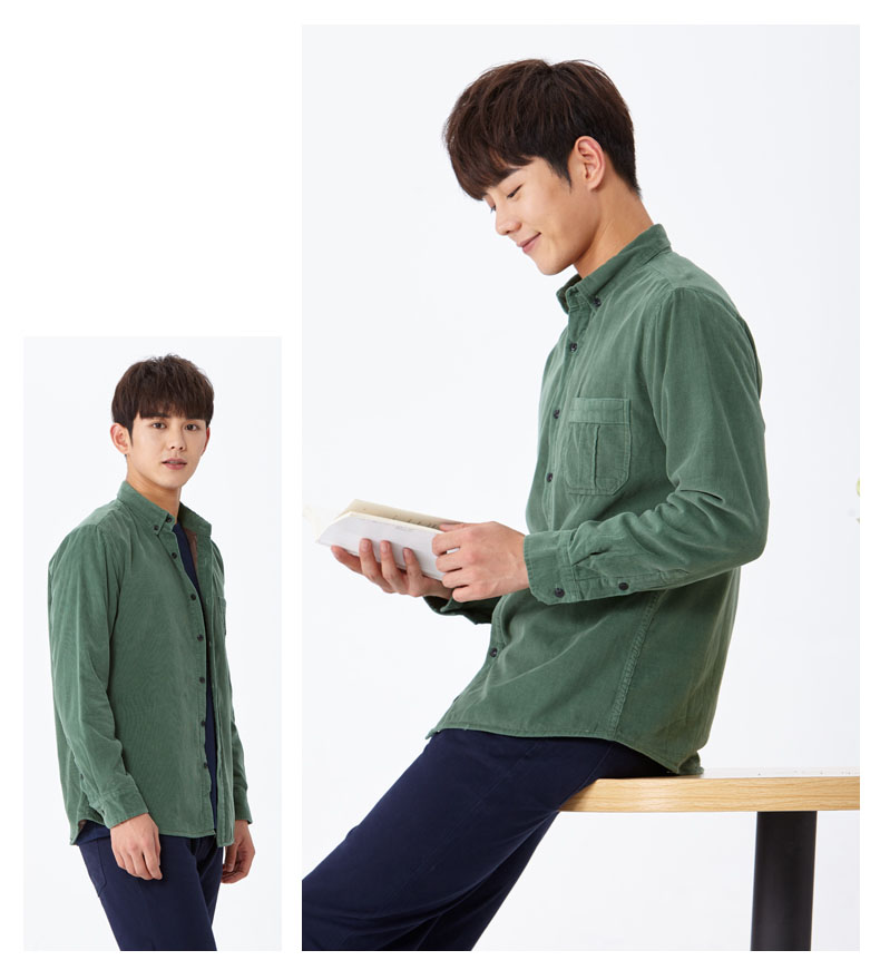 corduroy wine shirt green 02