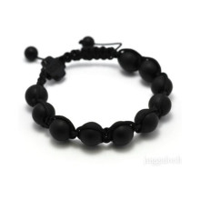 2017 Casual Men Bracelet Shamballa Jewelry Rope Handmade Black Stone Bead Shamballa Bracelet for Mens Accessories