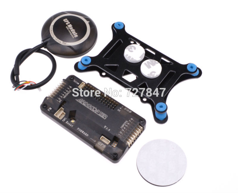 Side pin APM2.6 Flight Controller Board + NEO 7M GPS W/ Compass+APM Shock Absorber<br>