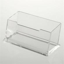 1pcs New Clear Desk Shelf Box storage Display Stand Acrylic Plastic transparent Desktop Business Card Holder Drop Shipping(China)