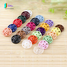 Colorful Round Resin Invisible Snap Button for Shirt/sweater/coat/windbreaker Sewing DIY Decoration Snap Button S0189H 15MM/18MM