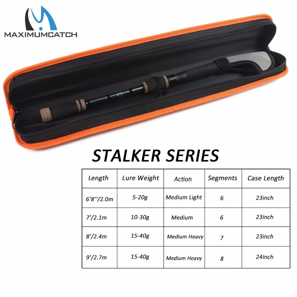 Maximumcatch 6.8-9ft /2-2.7m Stalker Telescopic Freshwater Fishing Rod Lure weight 5-40g Spinning Fishing Rod <br>