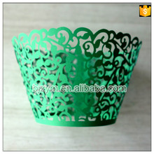 Different colors supply laser cut vine paper cake form muffin cases wrappers Cupcake Wrapper 24pcs for birthday party wedding(China)