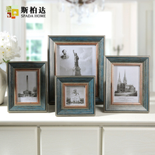 4/6/7/10 Inch American Classic Photo Frame Vintage Expression of Love Paper Photo Frame Square Wedding Photo Frame(China)