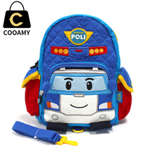 Kindergarten Printing Backpack For Teenagers School Bag Children Cute Schoolbag Canvas Boy Rucksack  Cartoon Car Kids Bookbag