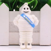 4GB 8GB 16GB 32GB 64GB Cartoon sitting Michelin lovely USB Flash USB Flash Drives Pendrive USB Memory 100% real capacity