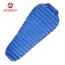 Aegismax Outdoor Camping Ultralight Mummy 95% 800FP Goose Down Sleeping Bag Spring Autumn Winter Tent Light weight Sleeping Bags(China)